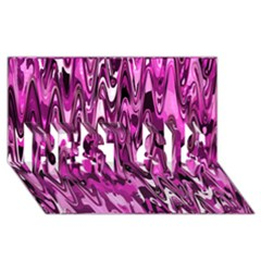 Funky Chevron Hot Pink Best Sis 3d Greeting Card (8x4)  by MoreColorsinLife
