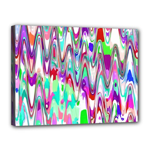 Funky Chevron Multicolor Canvas 16  X 12  by MoreColorsinLife