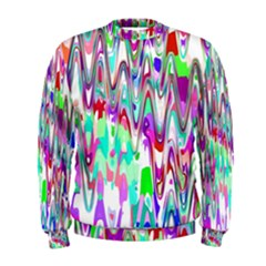 Funky Chevron Multicolor Men s Sweatshirt by MoreColorsinLife