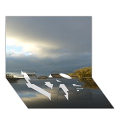 View   On The Lake Love Bottom 3d Greeting Card (7x5)  by Costasonlineshop
