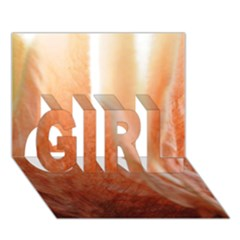 Floating Peach Girl 3d Greeting Card (7x5)
