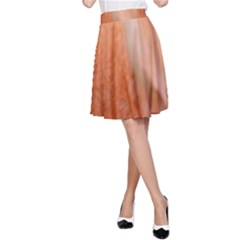 Floating Peach A Line Skirt