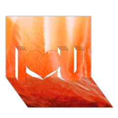 Floating Orange I Love You 3d Greeting Card (7x5)  by timelessartoncanvas