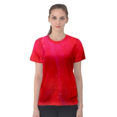 Red And Beautiful Women s Sport Mesh Tee by timelessartoncanvas