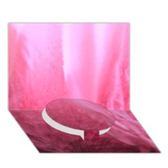 Floating Pink Circle Bottom 3d Greeting Card (7x5)