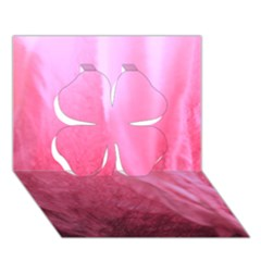 Floating Pink Clover 3d Greeting Card (7x5)  by timelessartoncanvas