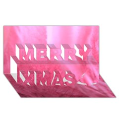 Floating Pink Merry Xmas 3d Greeting Card (8x4)  by timelessartoncanvas