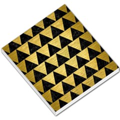 Triangle2 Black Marble & Gold Brushed Metal Small Memo Pads by trendistuff