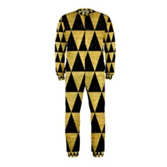 Triangle3 Black Marble & Gold Brushed Metal Onepiece Jumpsuit (kids) by trendistuff