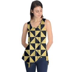 Triangle1 Black Marble & Gold Brushed Metal Sleeveless Tunic by trendistuff