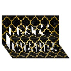 Tile1 Black Marble & Gold Brushed Metal Best Wish 3d Greeting Card (8x4) by trendistuff