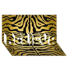 SKIN2 BLACK MARBLE & GOLD BRUSHED METAL (R) BELIEVE 3D Greeting Card (8x4)