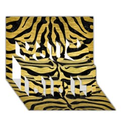 SKIN2 BLACK MARBLE & GOLD BRUSHED METAL (R) You Did It 3D Greeting Card (7x5)