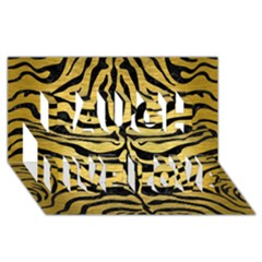 SKIN2 BLACK MARBLE & GOLD BRUSHED METAL (R) Laugh Live Love 3D Greeting Card (8x4)