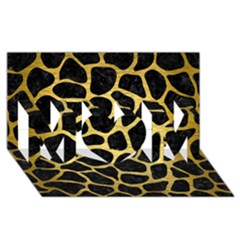 Skin1 Black Marble & Gold Brushed Metal (r) Mom 3d Greeting Card (8x4) by trendistuff