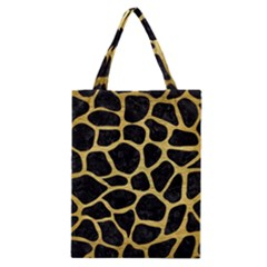 Skin1 Black Marble & Gold Brushed Metal (r) Classic Tote Bag by trendistuff