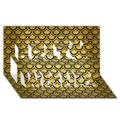 Scales2 Black Marble & Gold Brushed Metal (r) Best Wish 3d Greeting Card (8x4) by trendistuff