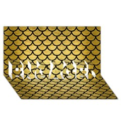 Scales1 Black Marble & Gold Brushed Metal (r) Engaged 3d Greeting Card (8x4)