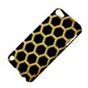 HEXAGON2 BLACK MARBLE & GOLD BRUSHED METAL Apple iPod Touch 5 Hardshell Case View4