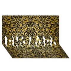Damask2 Black Marble & Gold Brushed Metal (r) Engaged 3d Greeting Card (8x4) by trendistuff