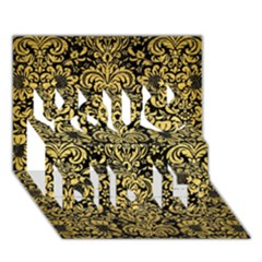 Damask2 Black Marble & Gold Brushed Metal You Did It 3d Greeting Card (7x5) by trendistuff