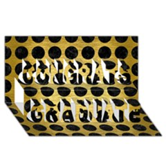 Circles1 Black Marble & Gold Brushed Metal (r) Congrats Graduate 3d Greeting Card (8x4) by trendistuff