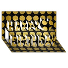 Circles1 Black Marble & Gold Brushed Metal Happy Birthday 3d Greeting Card (8x4) by trendistuff