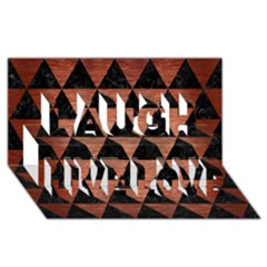 Triangle3 Black Marble & Copper Brushed Metal Laugh Live Love 3d Greeting Card (8x4)