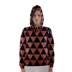 Triangle3 Black Marble & Copper Brushed Metal Hooded Wind Breaker (women) by trendistuff