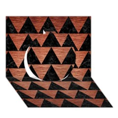 Triangle2 Black Marble & Copper Brushed Metal Circle 3d Greeting Card (7x5) by trendistuff