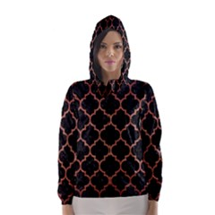Tile1 Black Marble & Copper Brushed Metal Hooded Wind Breaker (women)