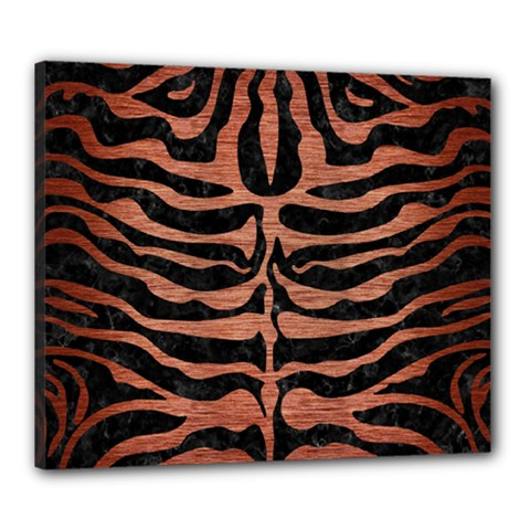 Skin2 Black Marble & Copper Brushed Metal Canvas 24  X 20  (stretched) by trendistuff