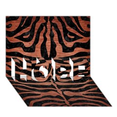 Skin2 Black Marble & Copper Brushed Metal Hope 3d Greeting Card (7x5) by trendistuff