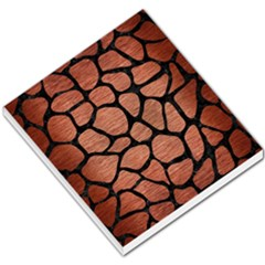Skin1 Black Marble & Copper Brushed Metal Small Memo Pads