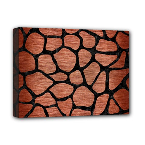 Skin1 Black Marble & Copper Brushed Metal Deluxe Canvas 16  X 12  (stretched)  by trendistuff