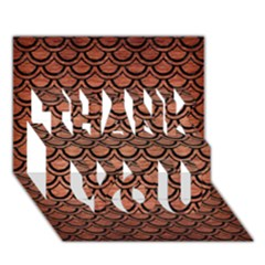 Scales2 Black Marble & Copper Brushed Metal (r) Thank You 3d Greeting Card (7x5) by trendistuff