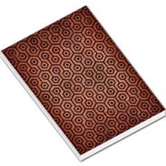 Hexagon1 Black Marble & Copper Brushed Metal (r) Large Memo Pads by trendistuff