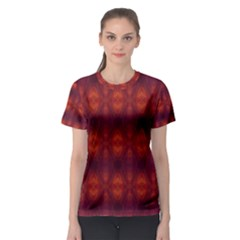 Brown Diamonds Pattern Women s Sport Mesh Tee by Costasonlineshop