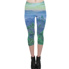 Fantasy Landscape Photo Collage Capri Leggings  by dflcprintsclothing