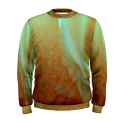 Floating Teal And Orange Peach Men s Sweatshirt