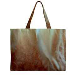 Floating Subdued Orange And Teal Zipper Mini Tote Bag by timelessartoncanvas