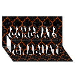 Tile1 Black Marble & Brown Burl Wood Congrats Graduate 3d Greeting Card (8x4) by trendistuff