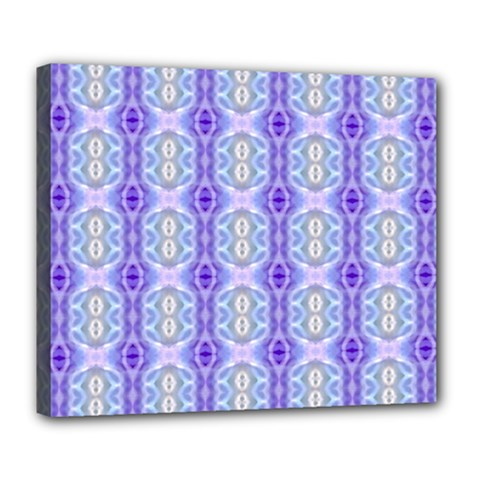 Light Blue Purple White Girly Pattern Deluxe Canvas 24  X 20   by Costasonlineshop