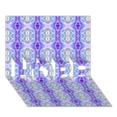 Light Blue Purple White Girly Pattern Hope 3d Greeting Card (7x5)  by Costasonlineshop