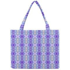 Light Blue Purple White Girly Pattern Mini Tote Bag by Costasonlineshop