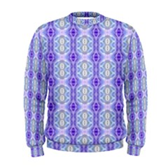 Light Blue Purple White Girly Pattern Men s Sweatshirt