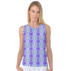 Light Blue Purple White Girly Pattern Women s Basketball Tank Top