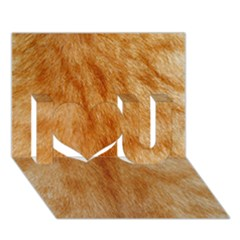 Orange Fur 2 I Love You 3d Greeting Card (7x5)  by timelessartoncanvas