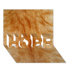 Orange Fur 2 Hope 3d Greeting Card (7x5)  by timelessartoncanvas