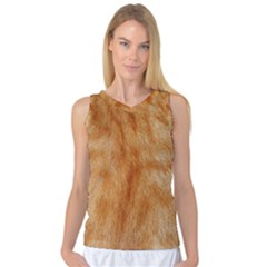 Orange Fur 2 Women s Basketball Tank Top by timelessartoncanvas